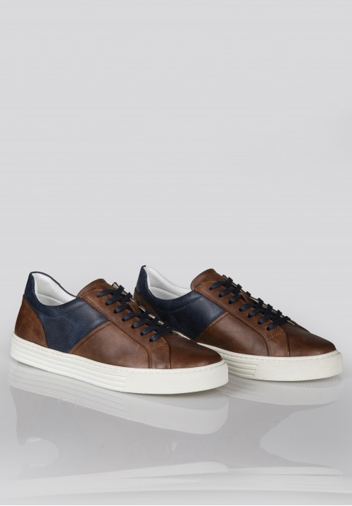A 252 BROWN& NAVY BLUE