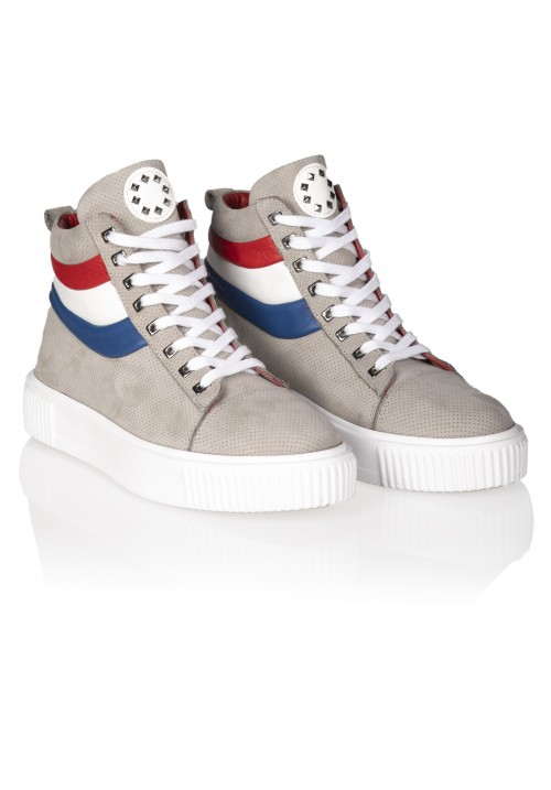 13023 LİGHT GREY AND RED