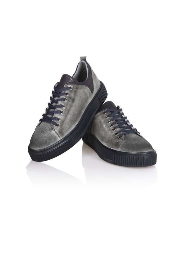 13567 GREY SUEDE AND NAVY